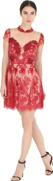 Fabiana Milazzo , Floral Embroidered Tulle Dress