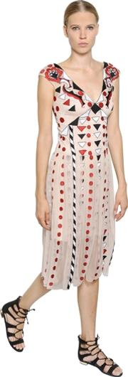 Temperley London , Embroidered Tulle Midi Dress