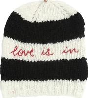 Pero , Love Is In Embroidered Wool Knit Hat