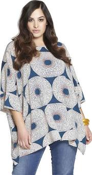 Beth Ditto , Printed Stretch Rayon Tunic Top
