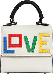 Les Petits Joueurs , Micro Alex Rainbow Love Top Handle Bag