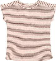 Caramel Baby And Child , Knitted Striped Cotton & Linen T Shirt