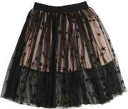 Stella Mccartney Kids , Embroidered Stretch Tulle Skirt