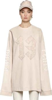 Fenty X Puma , Extra Long Sleeve Cotton Sweatshirt