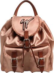 Giuseppe Zanotti Design , Fringed Silk Satin Backpack