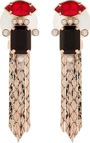 Mawi , Deco Lux Fringed Earrings