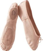 Porselli , Split Sole Cotton Canvas Ballet Flats