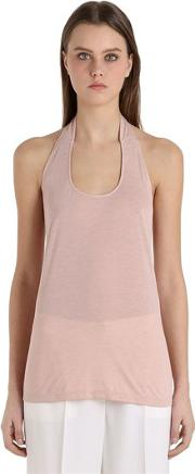 Siran , Jersey Halter Top With Low Cut Back
