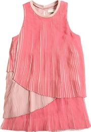 Stella Mccartney Kids , Tiered Plisse Georgette Party Dress