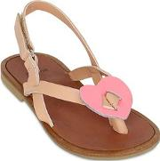 Two Con Me By Pepe , Heart Leather Sandals