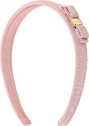 Salvatore Ferragamo , Grosgrain Headband W Logo Plaque