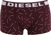 Diesel , Matches Print Cotton Jersey Boxer Briefs