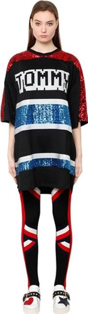 Tommy Hilfiger Collection , Tiger Sequined Oversized Knit Dress