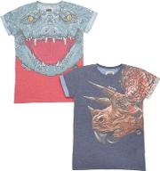 Madson Discount , Set Of 2 Croc & Dino Jersey T Shirts