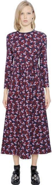 Mother Of Pearl , Floral Print Viscose Blend Jersey Dress