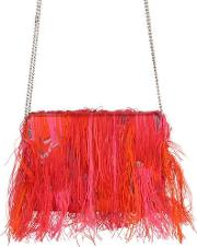 Gianluca Capannolo , Fringed Jacquard & Fil Coupe Clutch