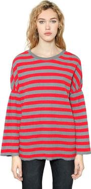 Steve J & Yoni P , Striped Rib Jersey Long Sleeve T Shirt
