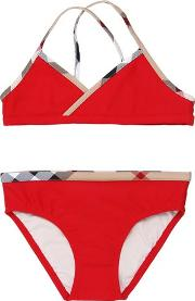 Burberry , Checked Trim Lycra Bikini