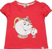 Courage&kind , Beauty & The Beast Cotton Jersey T Shirt
