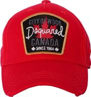 Dsquared2 , City Of Wood Canvas Baseball Cap