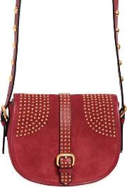 Red Valentino , Small Rider Suede Shoulder Bag