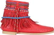 Sarah Summer , 10mm Fringed Nappa Leather Boots
