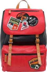 Invicta , My Jolly Leather Backpack W Patches