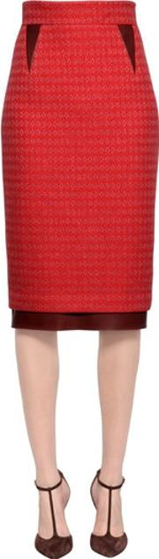 Larusmiani , Cashmere & Silk Blend Boucle Skirt