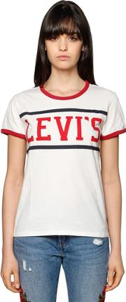 Levis Red Tab , Printed Logo Cotton Jersey T Shirt