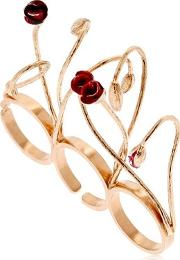 Futuro Remoto Gioielli , Blooms Three Finger Ring
