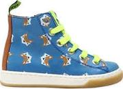 Maa , Fox Printed Leather High Top Sneakers