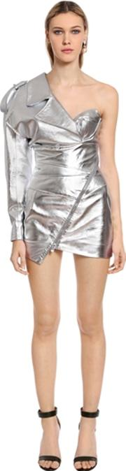 Alexandre Vauthier , One Shoulder Nappa Lame Mini Dress