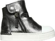 Araia Kids , Laminated Leather High Top Sneakers