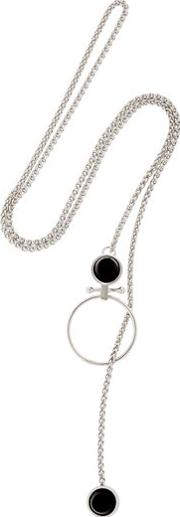 Moutton Collet , Crystal Piercing Necklace