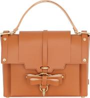 Niels Peeraer , Medium Bow Buckle Leather Top Handle Bag