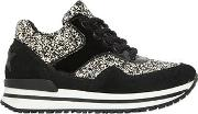 2 Star , Glittered Faux Leather Running Sneakers