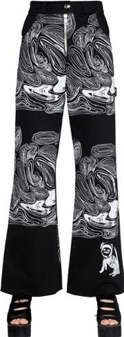 Claire Barrow , Cell Printed Cotton Denim Jeans