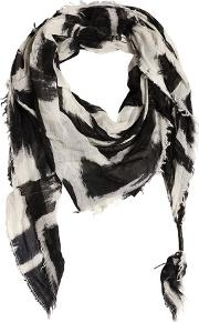 Htc Hollywood Trading Company , Printed Wool & Silk Blend Scarf