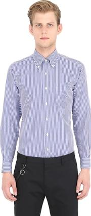 Brooks Brothers , Milano Striped Cotton Pinpoint Shirt