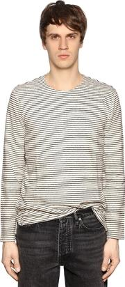 Levis Made & Crafted , Striped Cotton Jersey T Shirt