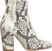 Strategia , 90mm Printed Snake Leather Ankle Boots