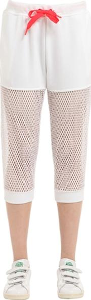 Adidas By Stella Sport , Mesh & Cotton French Terry Sweatpants