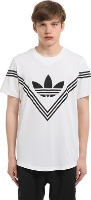 Adidas Originals By White Mountaineering , Rubber Logo Cotton Blend T Shirt