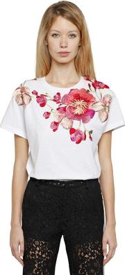 Ainea , Hand Embroidered Cotton Jersey T Shirt