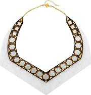 Anisha Parmar London , Ivory Collection Mirror Necklace