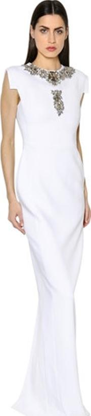 Antonio Berardi , Crystal Embroidered Cady Gown