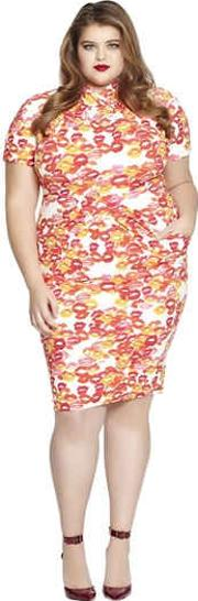 Beth Ditto , Fitted Gathered Modal Dress