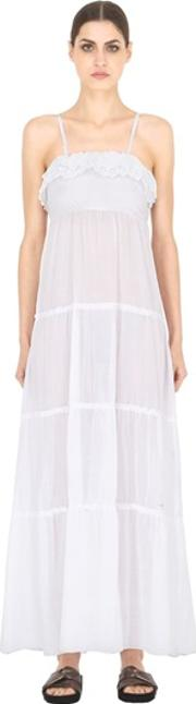 Blugirl Beachwear , Tiered Cotton Voile Maxi Dress