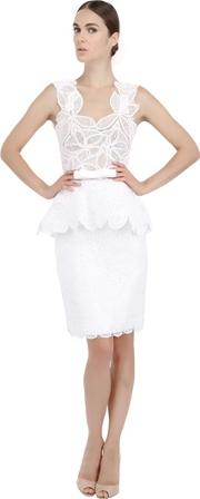 Martha Medeiros , Cotton Lace And Tulle Dress