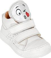 Ocra , Smiley Patches Leather Sneakers